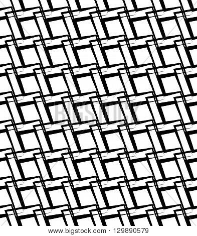 Geometric Monochrome Pattern, Background. (seamlessly Repeatable)