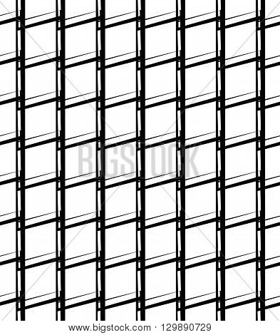 Simple Monochrome Grid, Mesh Pattern. Seamlessly Repeatable.