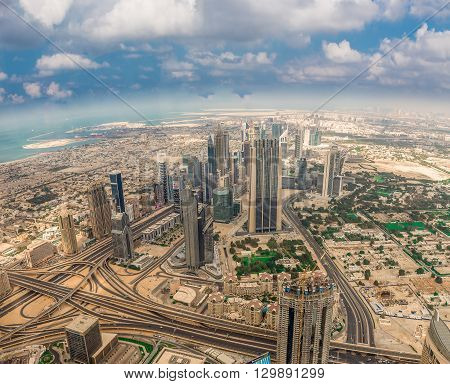 Aerial View Of Dubai (united Arab Emirates)