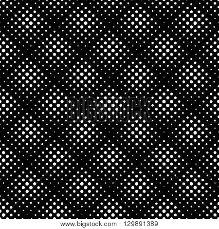 Seamless Pattern With Halftone Dots. Repeatable Geometric Monochrome Pattern.
