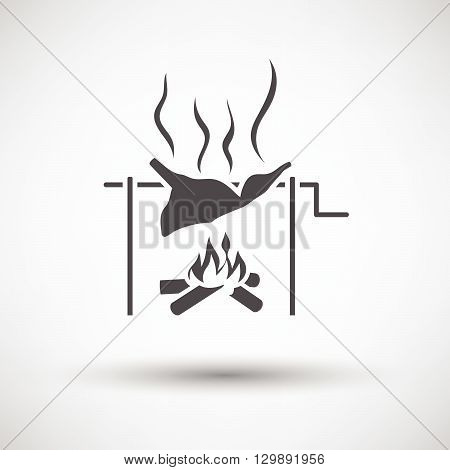 Roasting Meat On Fire Icon