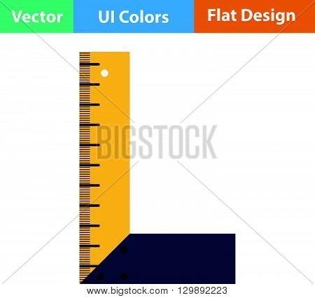 Flat Design Icon Of Setsquare