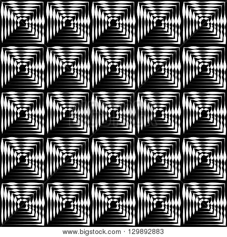 Regular Seamless Pattern With Concentric Squares. Seamlessly Repeatable.