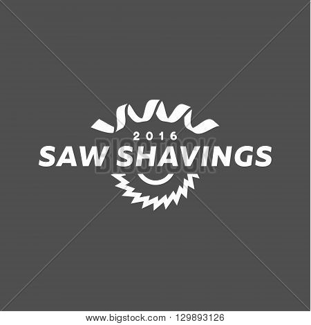 Abstract disc circular saw and shaving modern logo vector illustration of a flat style art