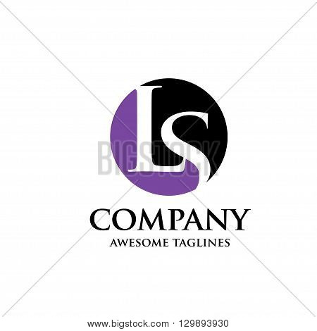 creative Letter LS legal and law logo design