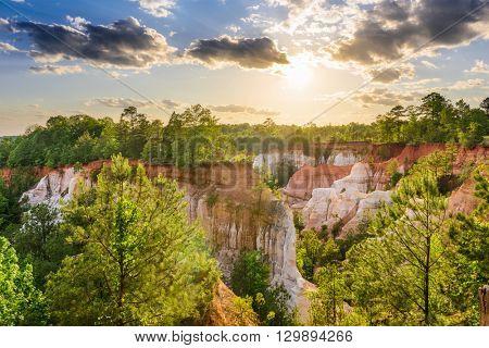Providence Canyon in Southwest Georgia, USA.