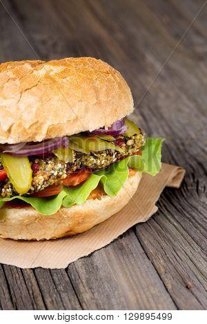 Vegan Homemade Swiss Chard Burgers