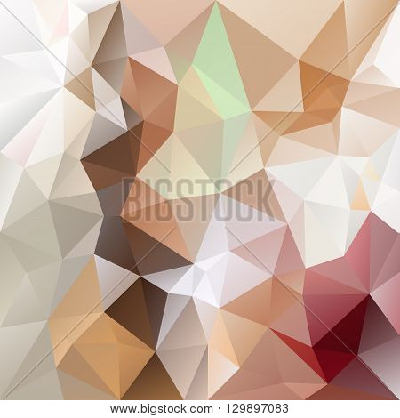 vector abstract irregular polygon background with a triangular pattern in brown and beige colors