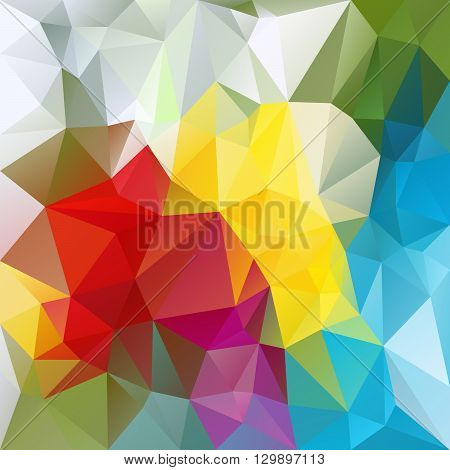 vector abstract irregular polygon background with a triangular pattern in colorful colors