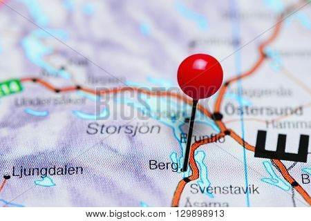 Berg pinned on a map of Sweden