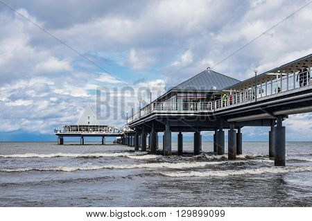 The pier in Heringsdorf on the island Usedom (Germany).