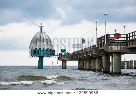 The pier in Zinnowitz on the island Usedom (Germany).