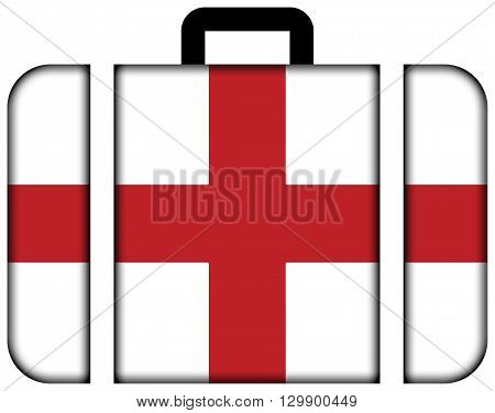 Flag Of Genoa. Suitcase Icon, Travel And Transportation Concept