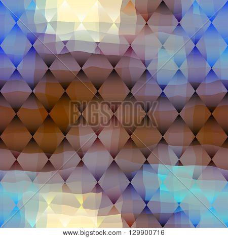 Seamless background pattern.  Rhombus abstract geometric pattern.