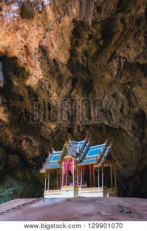 Morning Sunbeam On Royal Pavilion In The Phraya Nakhon Cave, Prachuap Khiri Khan, Thailand