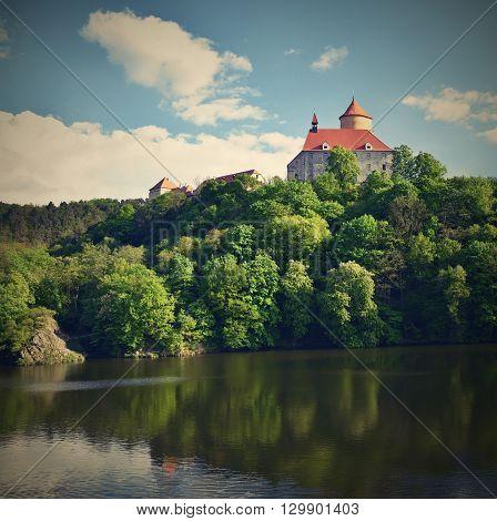 Beautiful Gothic Castle Veveri. The City Of Brno At The Brno Dam. South Moravia - Czech Republic - C