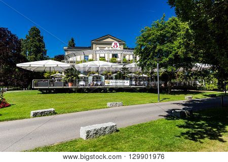 View Of The Kurpark And The Casino Of Baden, Switzerland