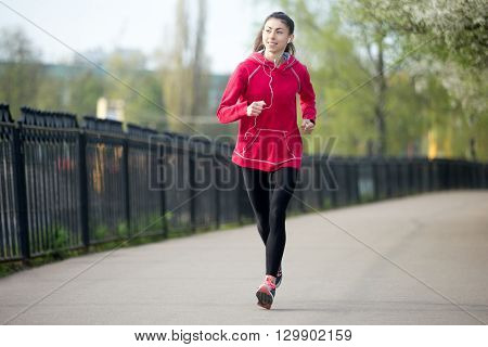 Runner Woman Working Out Outdoors