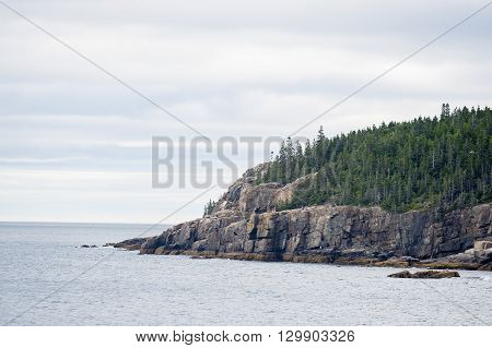 Otter Cliff Acadia National Park popular with climbers and hikers