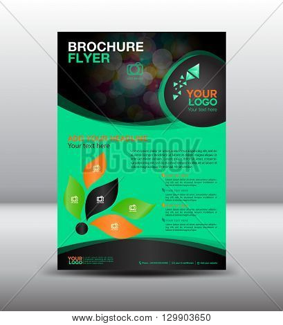business brochure flyer design layout template newsletter Leaflet poster flyer layout  geometrical background