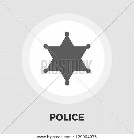Police icon vector. Flat icon isolated on the white background. Editable EPS file. Vector illustration.