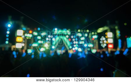 Bokeh From Concert Background