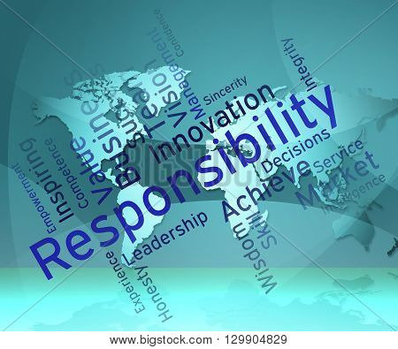 Responsibility Words Means Obligations Duties And Responsibilities