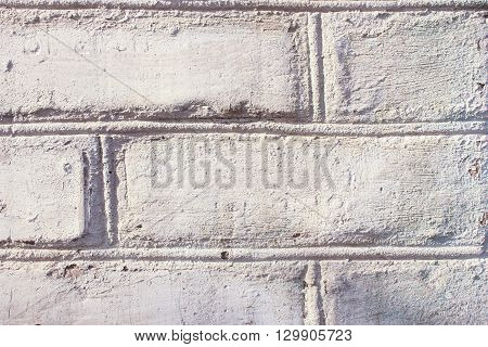 gray old brick masonry wall texture and background
