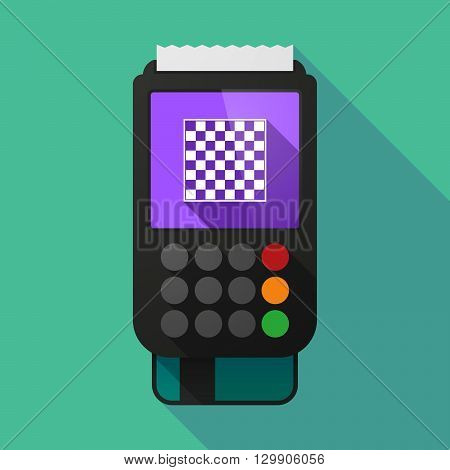 Long Shadow Dataphone With  A Chess Board