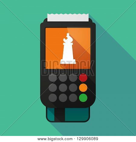 Long Shadow Dataphone With A Bishop    Chess Figure