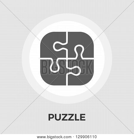 Puzzle icon vector. Flat icon isolated on the white background. Editable EPS file. Vector illustration.