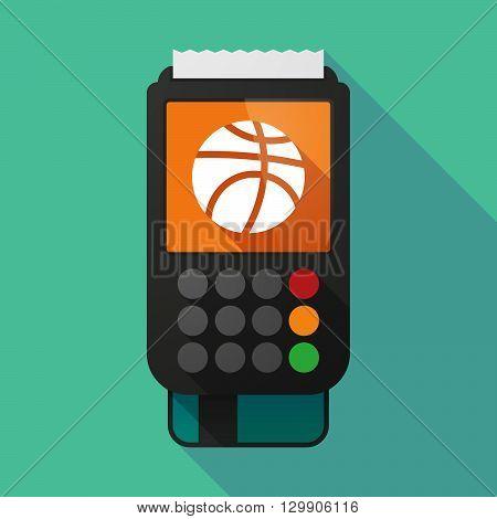 Long Shadow Dataphone With  A Basketball Ball