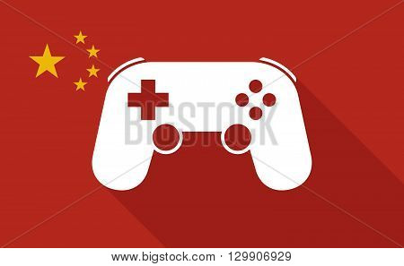 China Long Shadow Flag With   A Game Pad