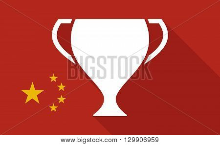 China Long Shadow Flag With   An Award Cup