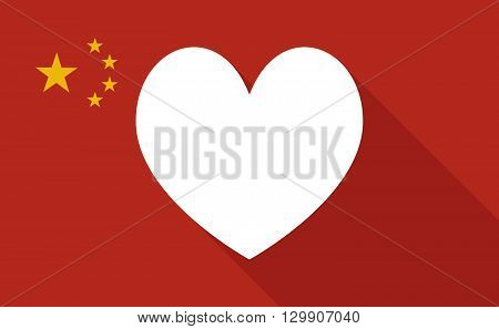 China Long Shadow Flag With   The Heart Poker Playing Card Sign