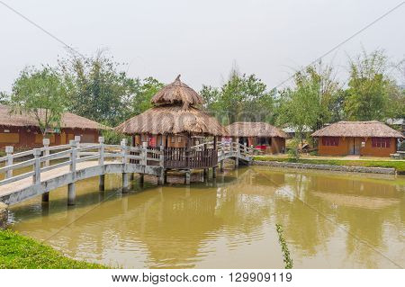 MAE HONG SORN, THAILAND - - April 16 : Santichon village Chinese style village among the nature on April 10, 2016 in Mae Hong Sorn province. It is the community of Chinese people migrated from China.