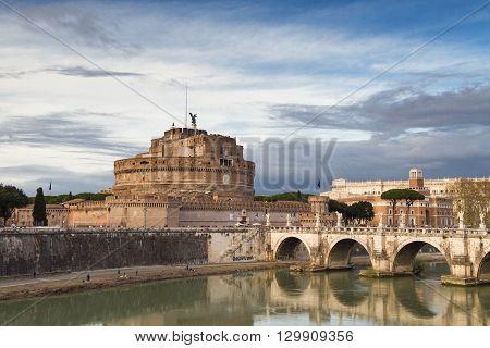 Ancient roman Castel Sant Angelo Rome Italy