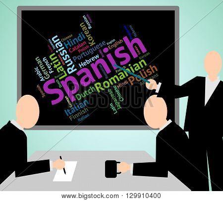 Spanish Language Shows Vocabulary Translator And Wordcloud