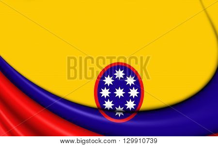 Civil Ensign Of United States Of Colombia