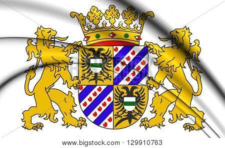 Groningen Province Coat Of Arms, Netherlands.