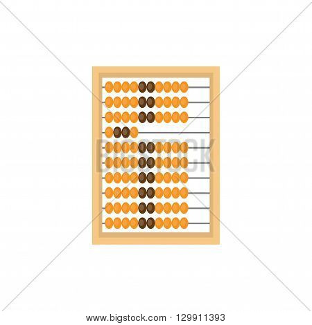 Abacus. Tool for counting. Abacus isolated on a white background.
