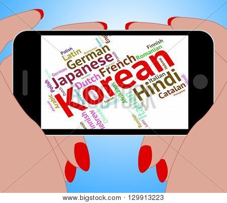 Korean Language Represents Text Translator And Words