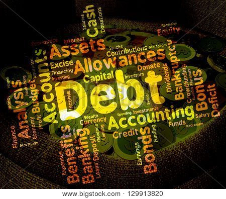Debt Word Means Words Liability And Debts