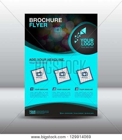 business brochure flyer design layout template in A4 size newsletter Leaflet poster flyer layout vector