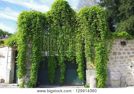 Gate in Auvers Sur Oise in France, Europe