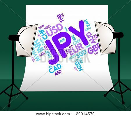 Jpy Currency Shows Japanese Yen And Broker
