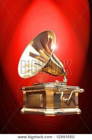 gramophone red