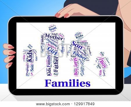 Families Word Indicates Blood Relation And Children
