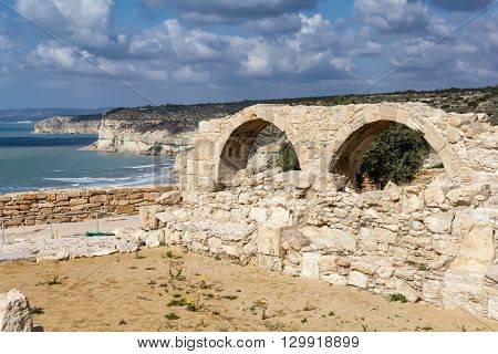 Ruins of Kourion an ancient Greek city in Cyprus