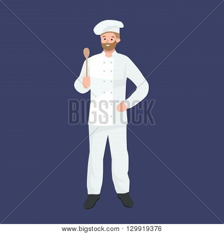 Vector cooking chefs vector illustration. Cartoon cook chefs icons. Restaurant cook chefs hat and cook uniform. Vector cooks, cooks uniform, cooks chefs, chefs isolated, cook people. Professions job